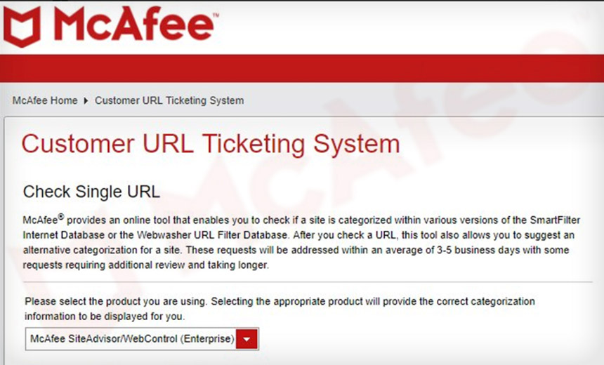 McAfee URL Security Service Gave Pass To Banking Trojan