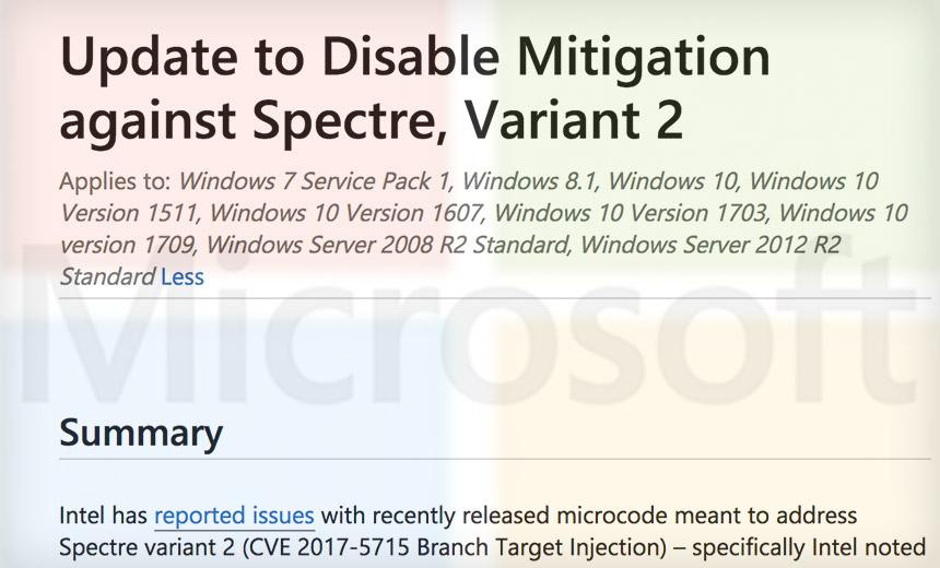 Microsoft Patch Nukes Bad Intel Firmware